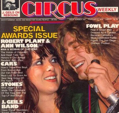 Ann Wilson Robert Plant Circus Magazine