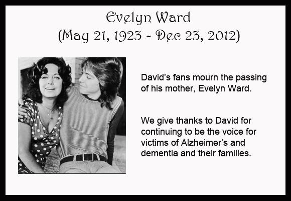 david cassidy evelyn ward
