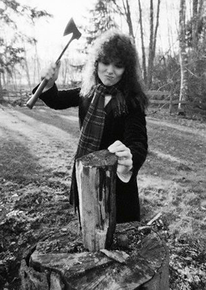 Ann Wilson Heart chopping wood