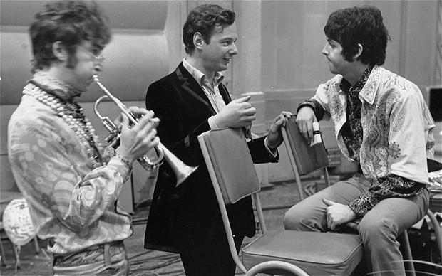 John Lennon, Brian Epstein, & Paul McCartney