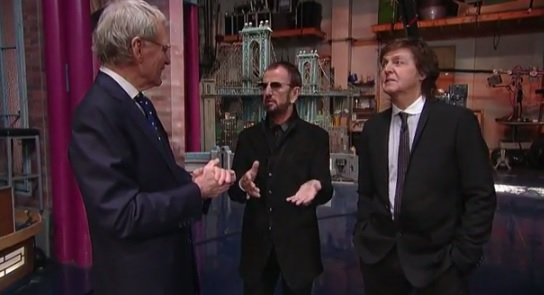 Preview David Lettermans Interview With Ringo Starr And Paul McCartney Video