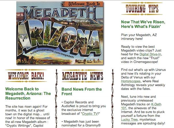 Megadeth Arizona, circa 1997