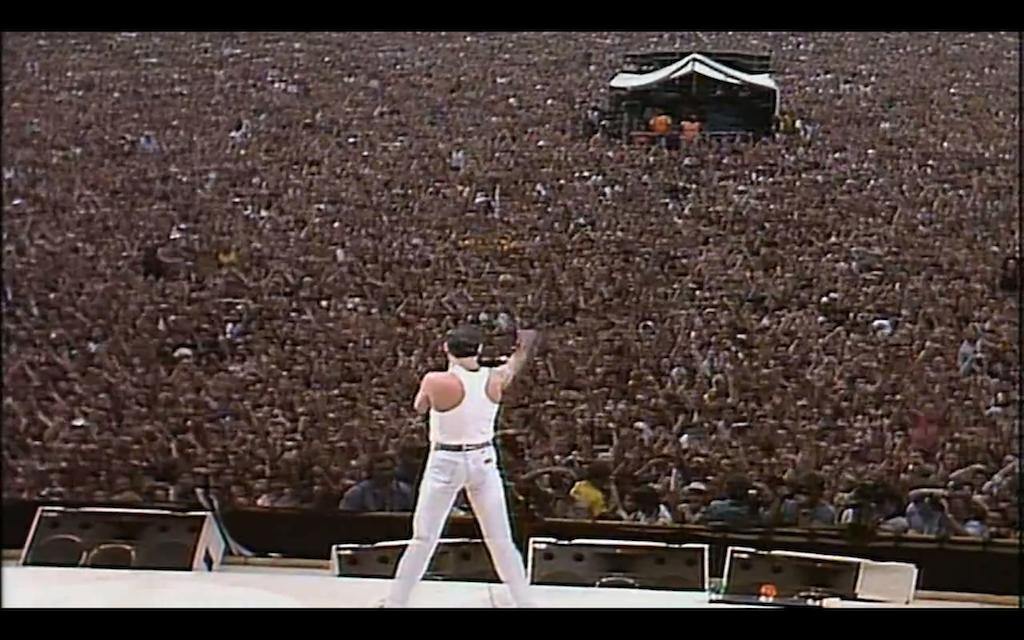 Freddie Addressing the crowd at Wembley
