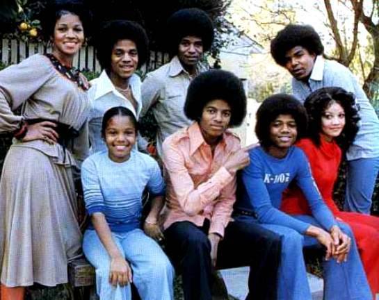 Vintage shot of the Jacksons.