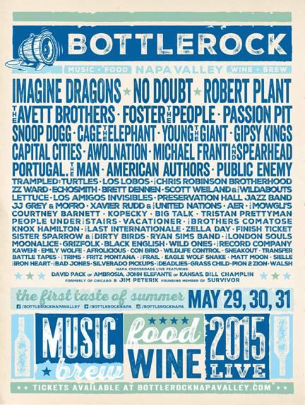 2015 BottleRock Napa Lineup: No Doubt, Robert Plant, Imagine Dragons, More (Details)