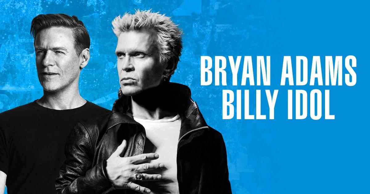 Bryan Adams + Billy Idol Announce Co-Headlining Summer Shows