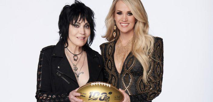 Joan Jett and Carrie Underwood (via @SNFonNBC)