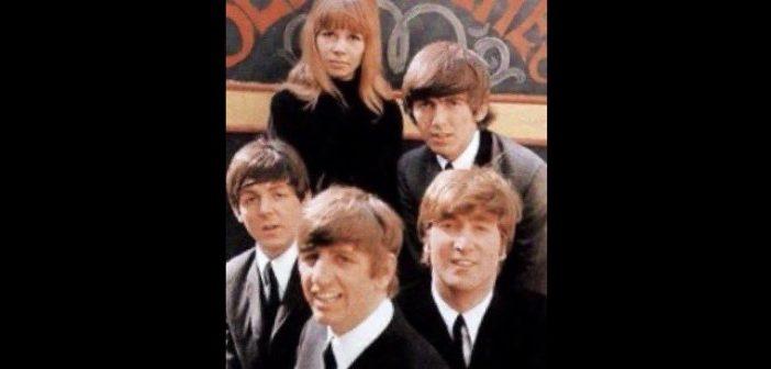 Astrid Kirchherr and the Beatles (Photo: @RingoStarrMusic on Twitter)