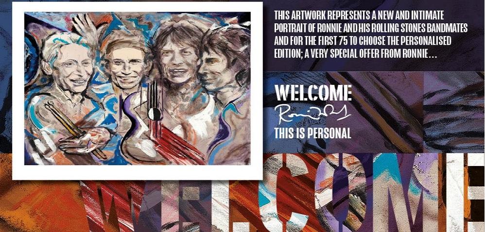 Ronnie Wood Unveils Gorgeous New Rolling Stones Original Art Piece