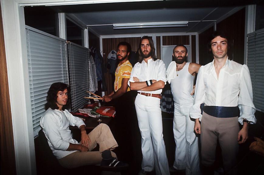 Steve Hackett and Genesis, 1977 (Photo: Armando Gallo)