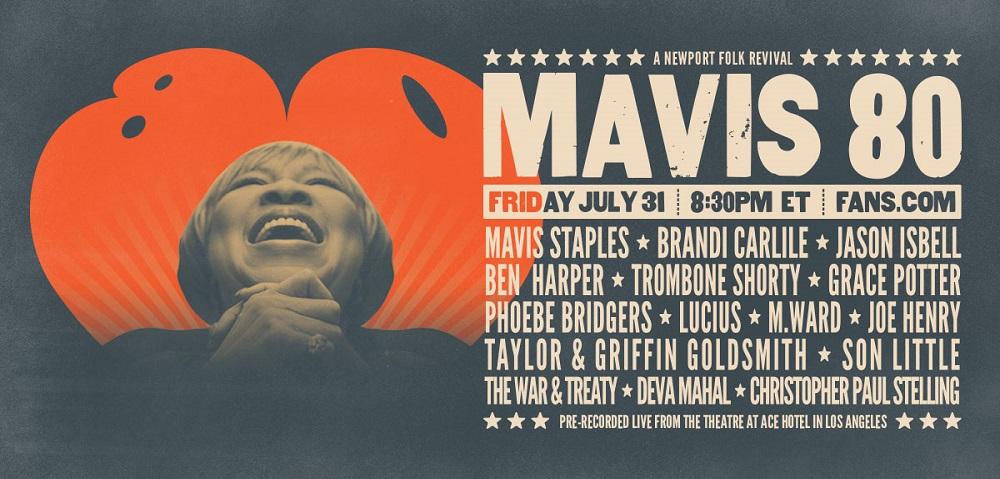 Rock Cellar Magazine | Mavis Staples, Jason Isbell, Brandi Carlile, Phoebe Bridgers, More Featured in 'Mavis 80' Celebration Live Stream Event 7/31